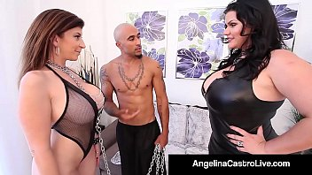 Cuban BBW Angelina Castro & King Noir Make Sara Jay Submit!