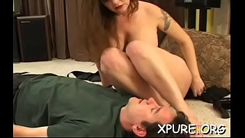 Concupiscent lesbian dominating her helpless sexy girlfriend