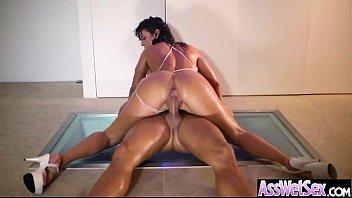 Big Butt Girl (franceska jaimes) Get Oiled All Over And Enjoy Anal Sex clip-12
