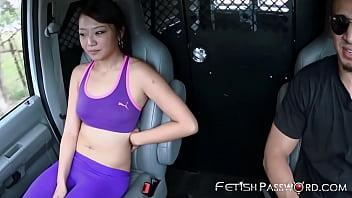 Lucky Asian Miko Dai facialized after BDSM joyride