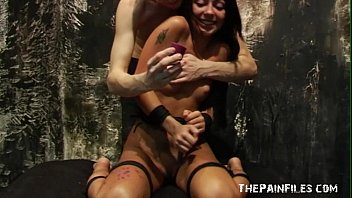 Teen hot waxing domination of sexy Zhura in erotic bdsm and candle wax pain game