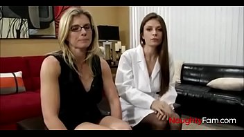 Playing doctor with mommy and sis