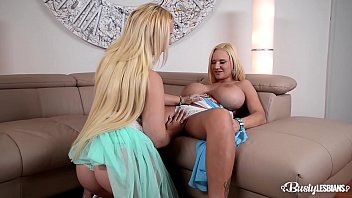 Busty lesbians Kyra Hot & Dolly Fox lick their sexy shaved wet pussies Thumb