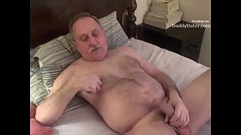 Gay horny man mature - Hairy hung silverdaddy grandpa sucking my uncut cock