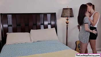 Val gets horny after kissing her friend