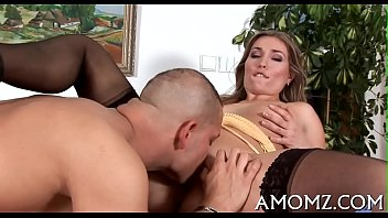 Sex addicted mommy in a hot act