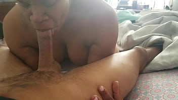 Ebony thot gets mouth full of cum and swallows