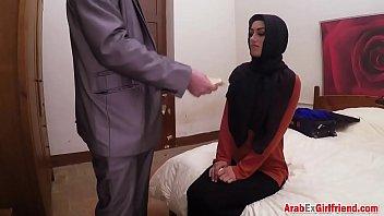 Small tit Arab slut gets pussy nailed