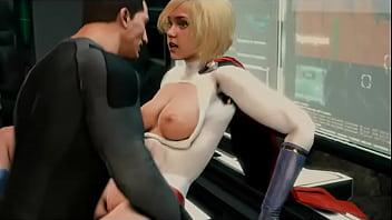 Power Girl And Bruce Wayne