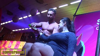 Male stripper megavideo - Male stripper on stage with 3 hot girls