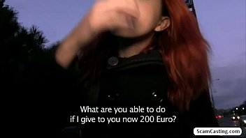 Redhead chick Amarna gets banged hard by dude for a lot of cash