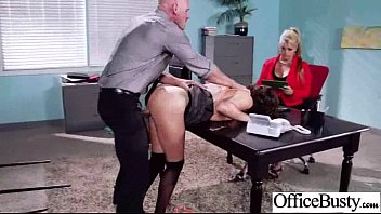 Big Melon Tits Girl (krissy lynn) Enjoy Hardcore Sex In Office video-28
