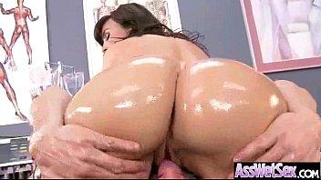 (lisa ann) Oiled Curvy Ass Girl Take It Deep In Her Behind clip-19