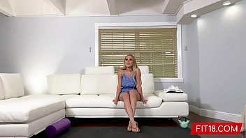 FIT18 - Blake Blossom - Casting Brand New All Natural Big Breasts 34DD American Blond In 60fps