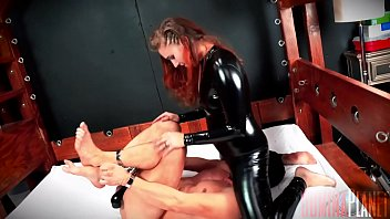Crotch pleasure - Fuck face - stephie staar has a slave hog tied and helpless. she unzips her crotch and starts riding his face hard, bouncing up and down and smothering him for her pleasure.
