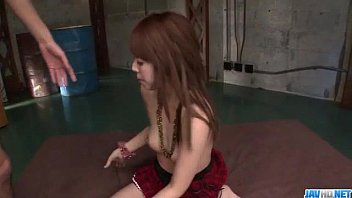 Miyu Aoi petite doll gets a big cock to smash her pussy