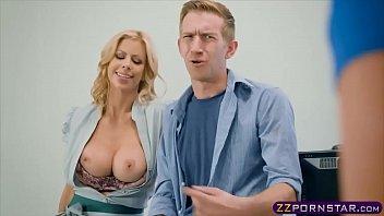 Schoolroom threesome with busty teacher and schoolgirl [선생님 teacher]