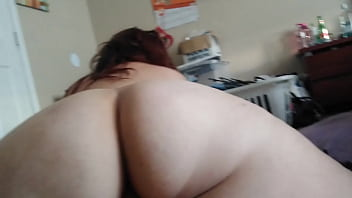 Cumming in bbw shemale then she chock me with cock