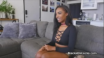 Big tit black beauty lubed and fucked