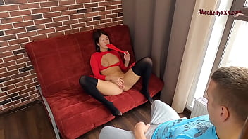 Cute Student Masturbates In Front Of Her Gym Teacher to Get Good Mark