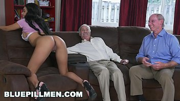 Women who beat mens ass Blue pill men - a couple of old men have fun with young black goddess aaliyah hadid
