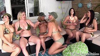 6 Girl Neighborhood Lesbian Orgy! Jelena Jensen, Vicky Vette, Maggie Green, Carmen Valentina, Rachel Storms and Its Cleo! - 69VClub.Com