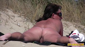 Mature nude brunnett video - Amateur nudist voyeur fat milf close-up video