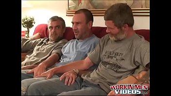Older gay men sucking cock Hairy older men sucking dick and having fun in threesome