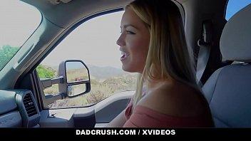 DadCrush - Hot Blonde (Alina Lopez) Gives Stepdad Road Head