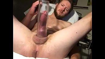 Horny guy pleasures his cock