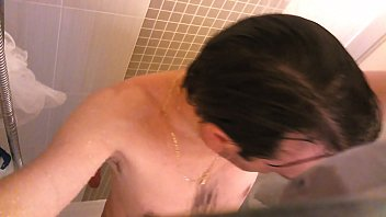 Daddy in the shower