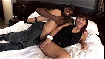 Hot mature milf banging black cock in Milf Interracial Video