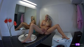 TmwVRnet.com - Katy Sky - Blonde orgasms on bathroom sink pornhub video