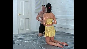 Man nude oil wrestling Mixed oil wrestling - 022 - yellow peril samantha