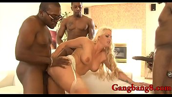 Busty lady Holly Heart DP by black dudes