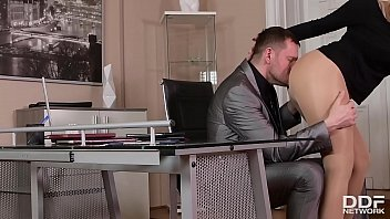 Sizzling hot sex addict Angel Wicky gets her sexy feet fucked until he cums