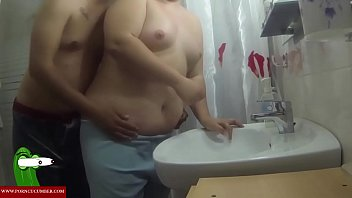 Fucked fat woman in the small bathroom. RAF319