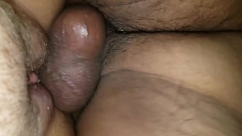 Close up of my cock and balls slapping her wet creamy pussy.