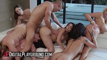 (Honey Gold, Karmen Karma, Kissa Sins, Lela Star, Nicolette Shea, Quinn Wilde, Xander Corvus) - Greedy Bitches Scene 4 - Digital Playground