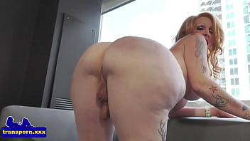 Bigbooty trans mature bends over and wanks