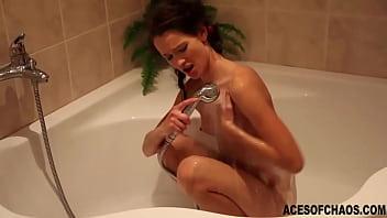 Petite slut washing body