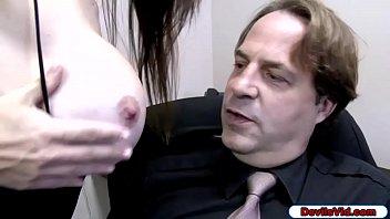 Slut wife sucks husbands employee
