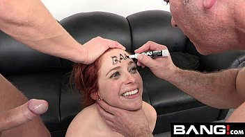 Big boob double penetration pics Penny pax takes two cocks at her bang audition