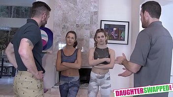 Lily Adams, Devon Green In Swap Fucking Touchy Feely Fathers To Get Out Of Gy