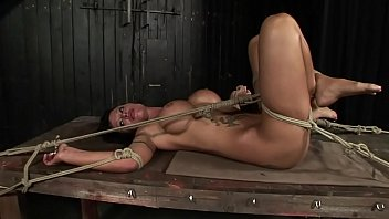 Under total domination. Humiliated bitch mouth fucked and screwed painfully in her all holes. BDSM movie. Hardcore bondage sex. ภาพขนาดย่อ