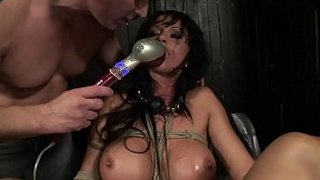 Extreme big boobs Under total domination. humiliated bitch mouth fucked and screwed painfully in her all holes. bdsm movie. hardcore bondage sex.