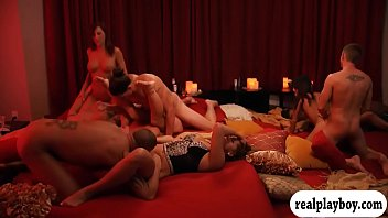 Horny swingers swappin partners and orgy
