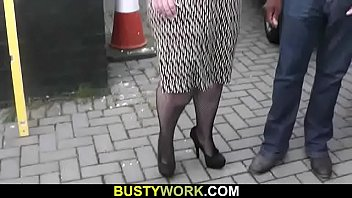 Black guy enjoys her big fat ass and boobs