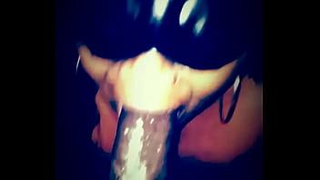 Ebony Sub Sloppy Deepthroat Training