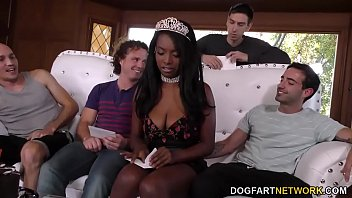 Black on white gang bang trailer - Anal sut daya knight enjoys her birthday gangbang